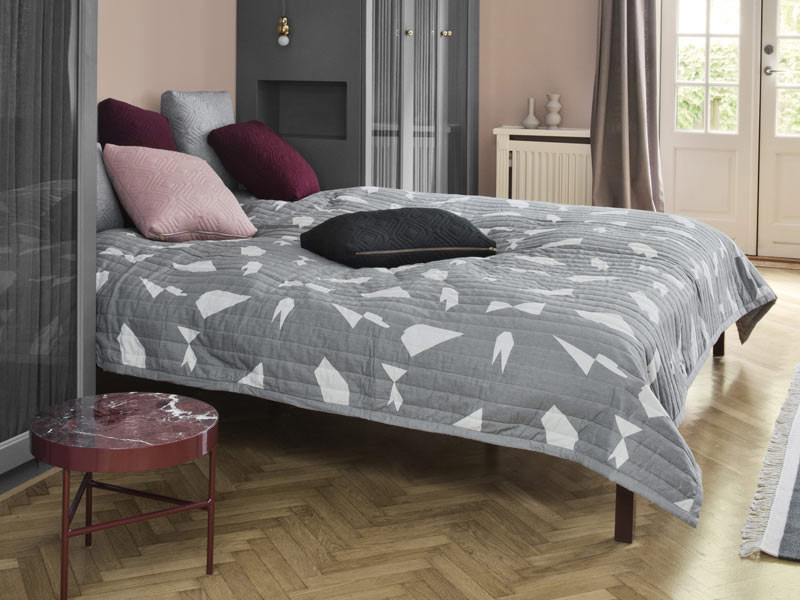 Tick all of the boxes for texture, print and colour with designer cushions, bed linen and more