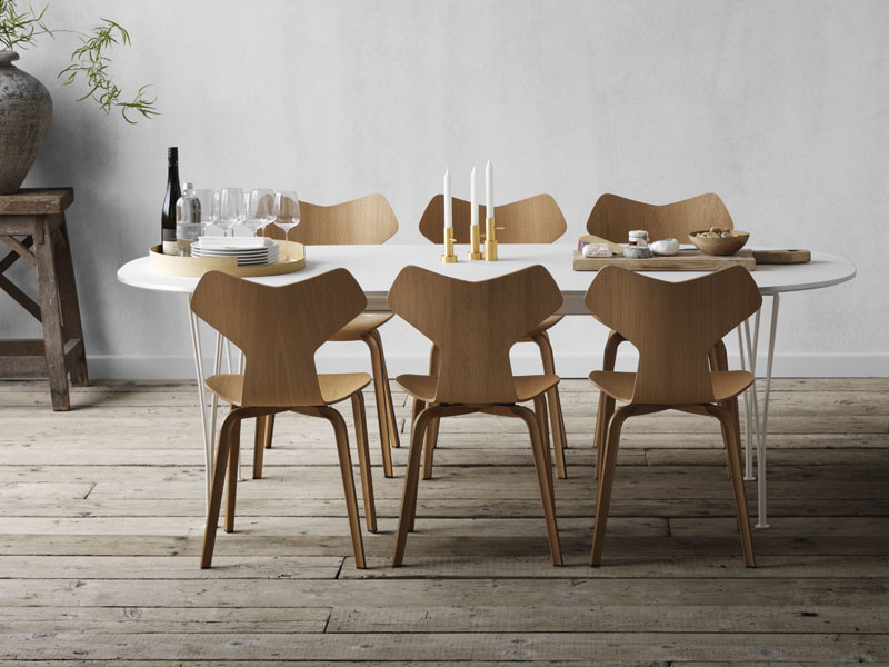 Shop our range of modern dining room furniture from designer brands like Vitra, HAY, Fritz Hansen and more.